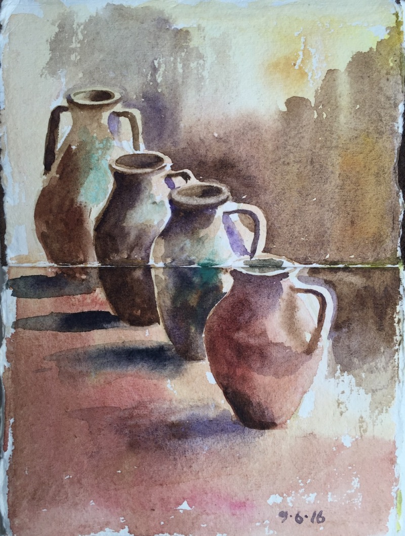 Pots in the villa