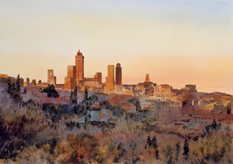 Painting of San Gimignano