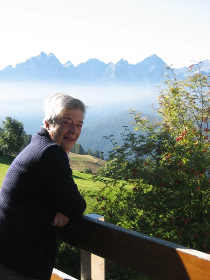 Nai from her balcony in Dolomites