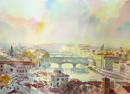 A limited edition print of Ponte Vecchio, Florence by Alan