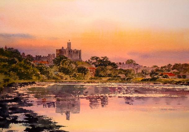 Warkworth Castle by Alan Reed