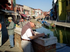 Alan painting on location
