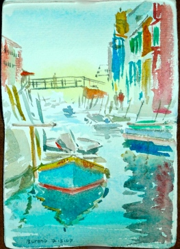 Burano, Venice Sketch by Alan Reed