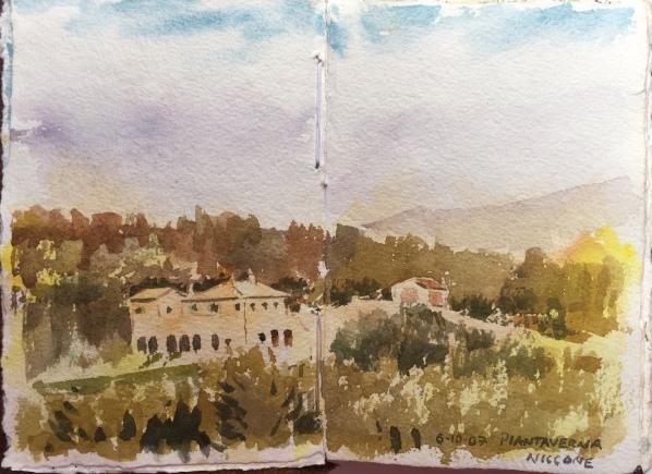 Piantaverna sketchbook watercolour