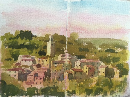 Sketchbook watercolour of Papiano