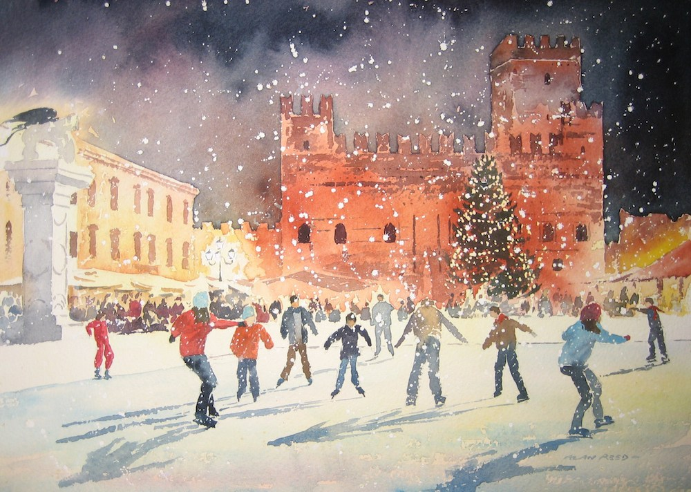 Skating in Marostica