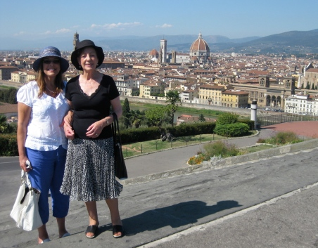 Susan & her Mum in Florence