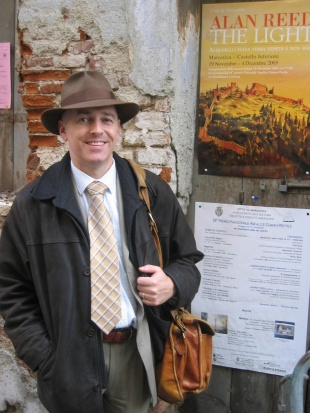 Alan Reed outside The Light exhibition