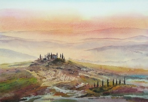 Val d'Orcia Print by Alan Reed